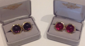 Purple Stone or Red Stone Cufflinks