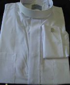 Men's Neckband shirts - White