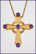 Celtic Cross with Purple Stones