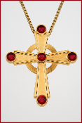 Celtic Cross with Red Stones